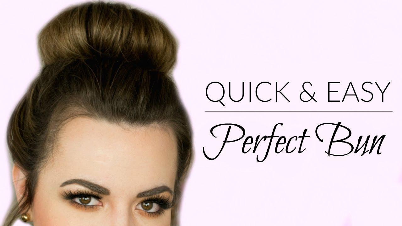 Easy perfect bun tutorial how to use a hot bun faces by easy perfect bun tutorial how to use a hot bun faces by cait b baditri Gallery
