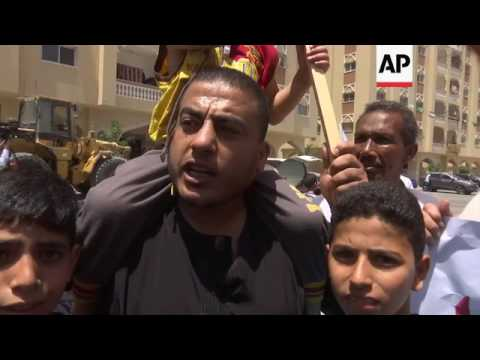 Palestinians protest in support of Qatar