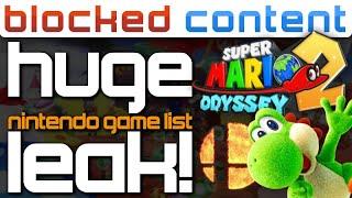 What Is Super Mario ADVENTURE?! More LEAKS In HUGE Game List! + Pokemon Games LEAKED - LEAK SPEAK!
