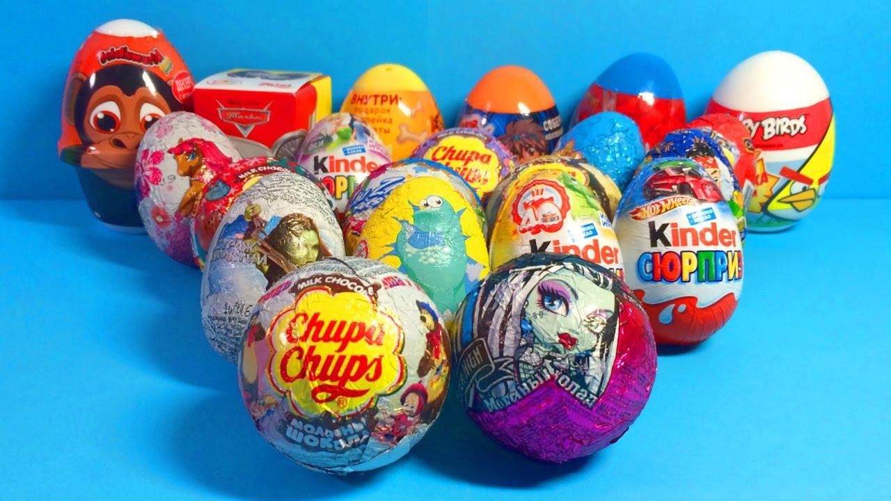 Surprise Eggs video for kids МАША и МЕДВЕДЬ Kinder Surprise egg ...