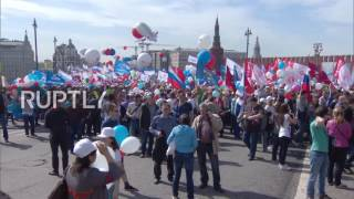 Russia   130,000 people march on Red Square to celebrate International Workers' Day