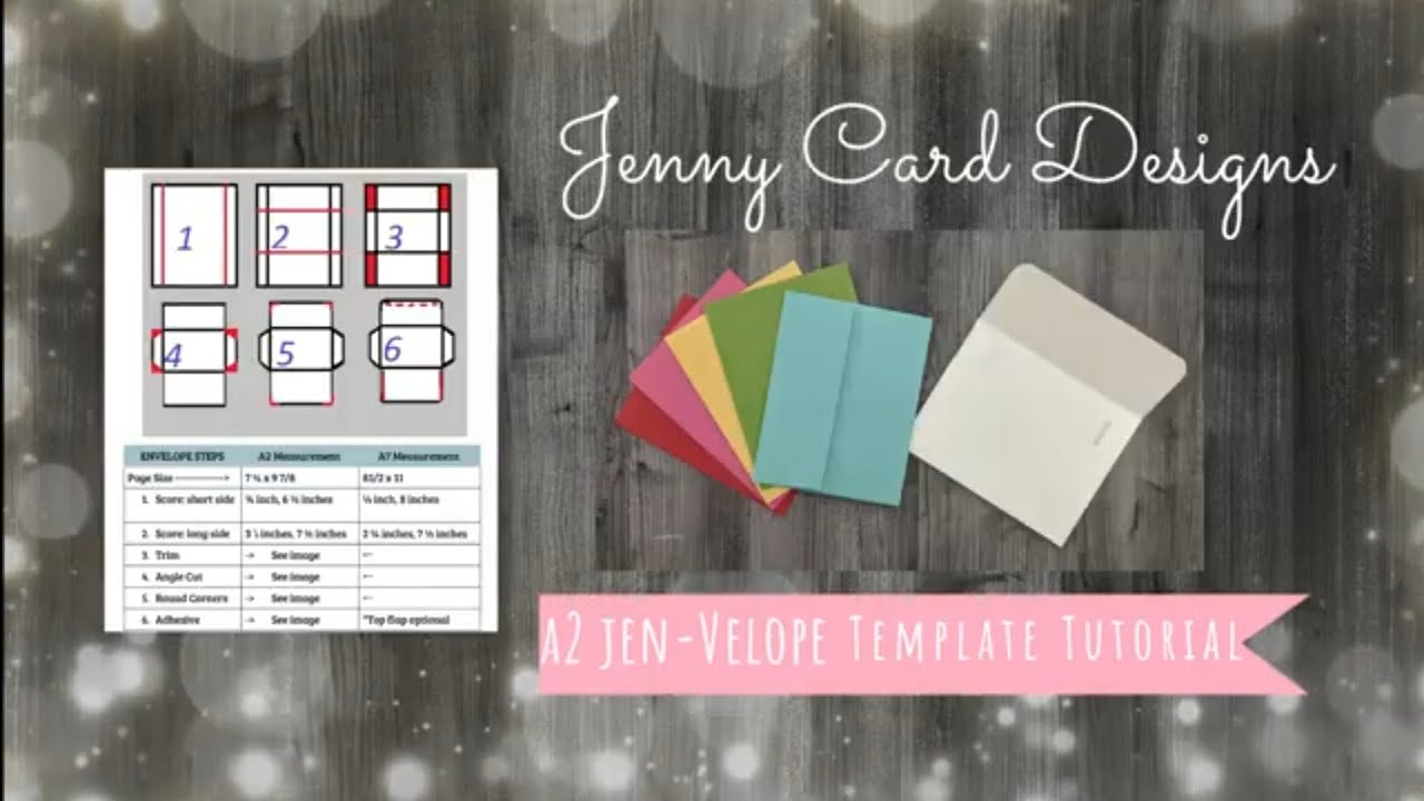 How to Make Easy and Elegant A21 Envelopes  Jen-Velope Template Tutorial   DIY Crafts Pertaining To A2 Card Template