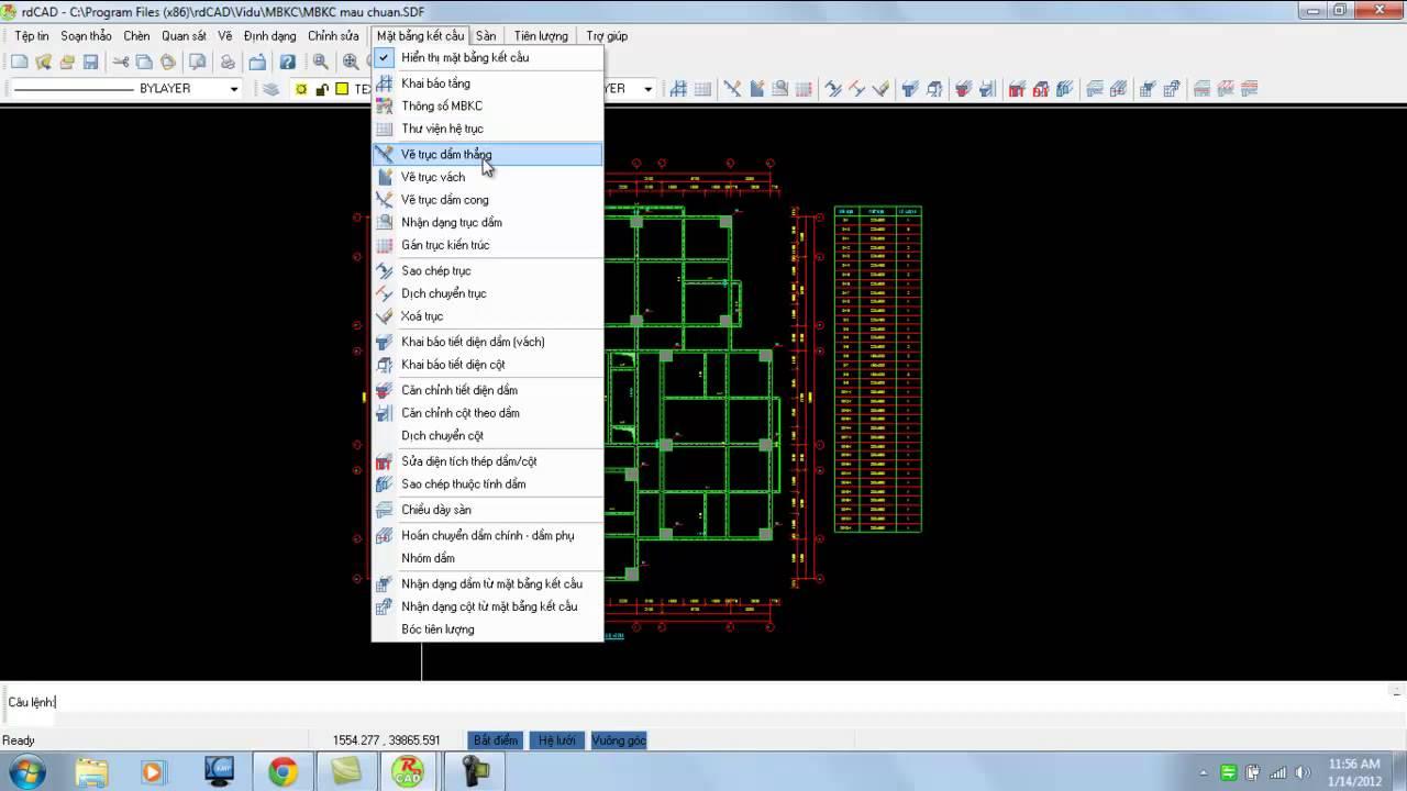 [RDCad – HD] – Phần mềm vẽ kết cấu chuyên nghiệp
