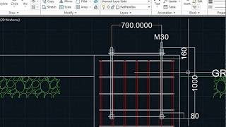 Excel to AutoCAD using Visual Lisp - Isolated Footing Foundation by Sayed  Mudassar