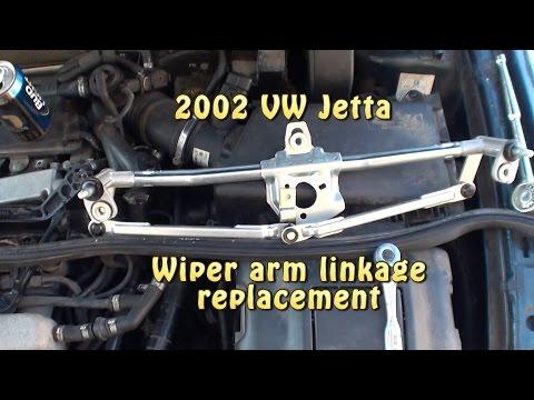 VW Jetta wiper linkage replacement. 2002 VW Jetta