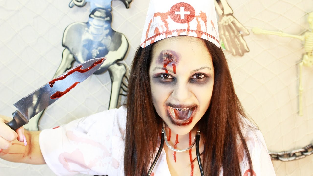 BEST EASY ZOMBIE HALLOWEEN COSTUME /MAKEUP - YouTube