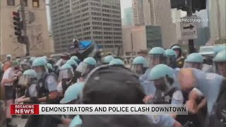 Chicago police, protesters clash Saturday night in the Loop
