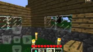 minecraft pe lets play episode 17 lil cabin in the woods