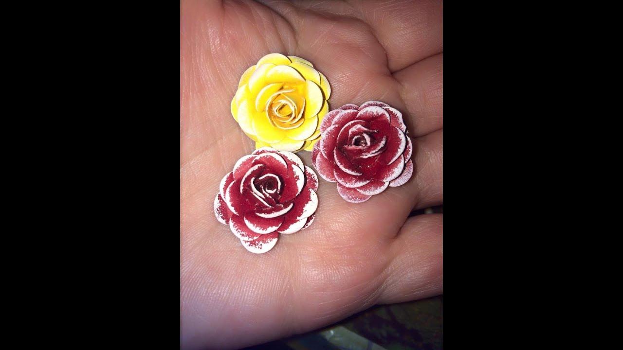 hoe om papier rosies te maak   how to make paper roses