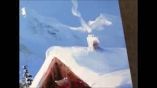 Живопись.Как рисовать снег.уроки рисования.oil painting.как Боб росс