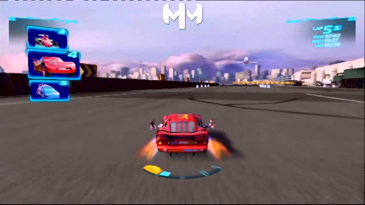 cars 2 game english daredevil lightning mcqueen runway tour battle race youtube. Black Bedroom Furniture Sets. Home Design Ideas