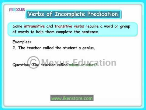 Verbs of Incomplete Predication