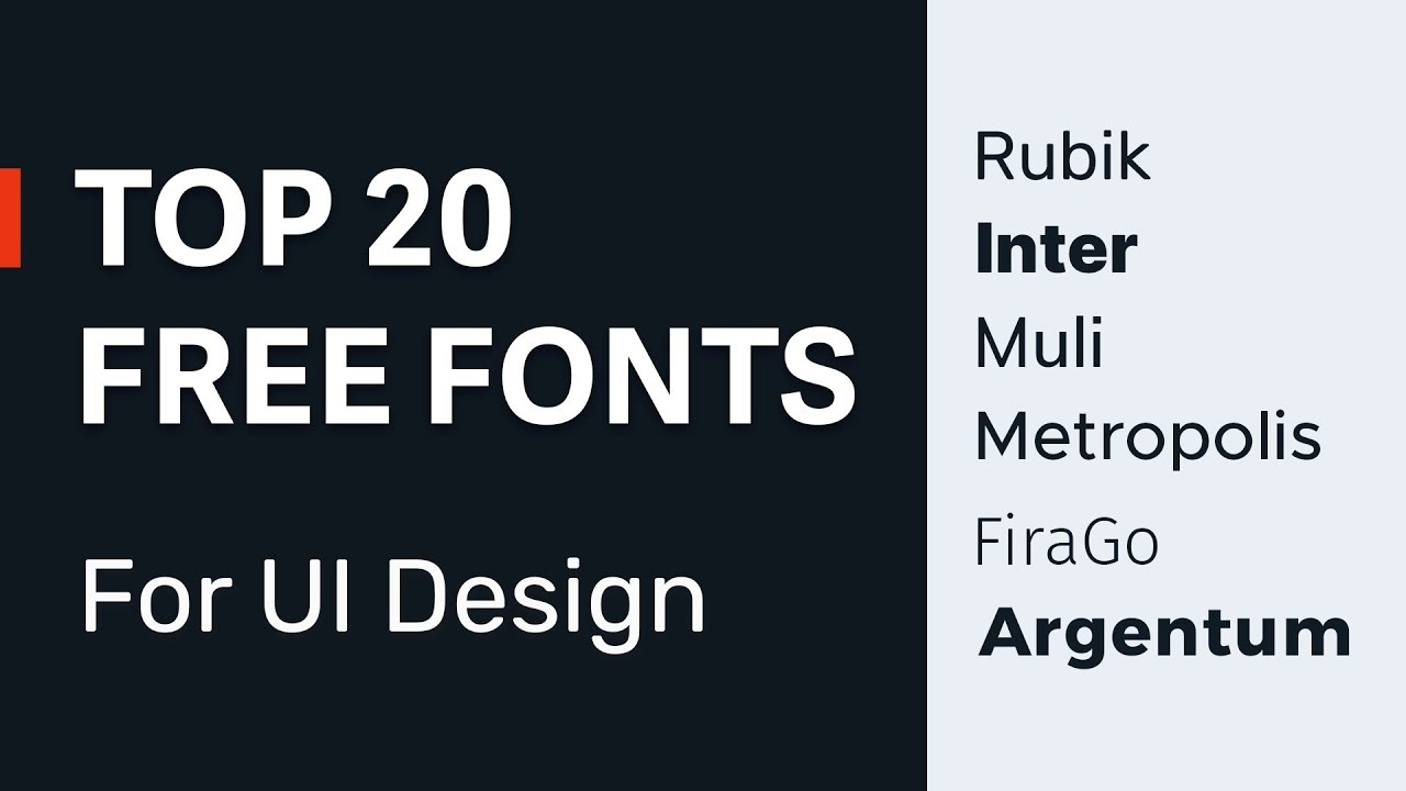 20 Best Free Fonts for UI Designers → Typefaces for User Interfaces