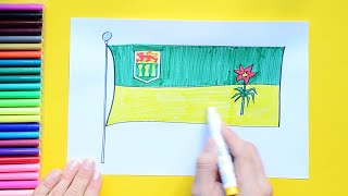 How to draw and color the Flag of Saskatchewan, Canada