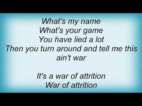 Tears For Fears - War Of Attrition Lyrics