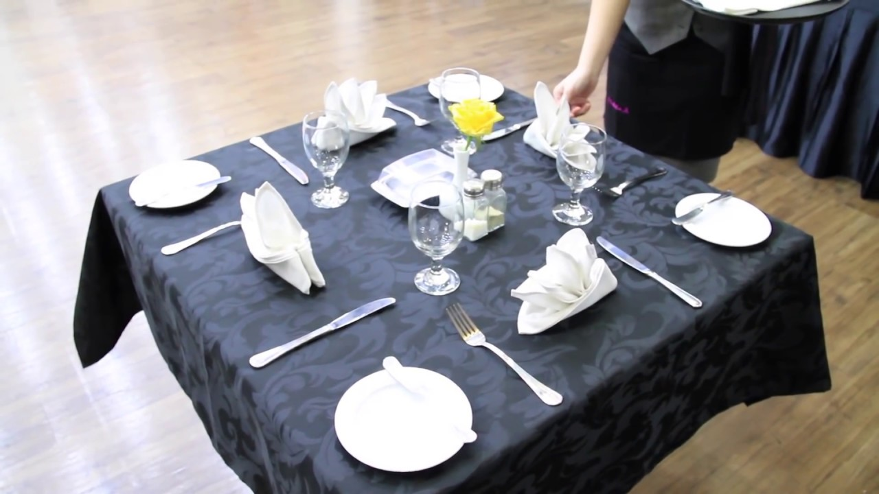 TABLE SET UP (F&B Service) - YouTube