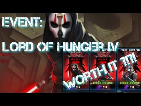 Lord Of Hunger IV Event and Are The Packs Worth it ???  Star Wars Galaxy of Heroes