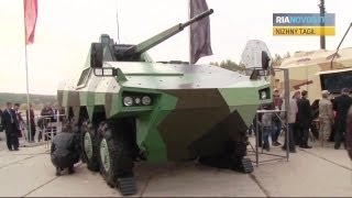 RIA Novosti - Hardhitting & Unique Fighting Vehicles At RAE 2013 [720p]