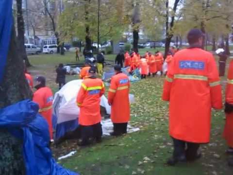 Halifax Police Clampdown on Occupy Nova Scotia at Victoria Park 11/11/11