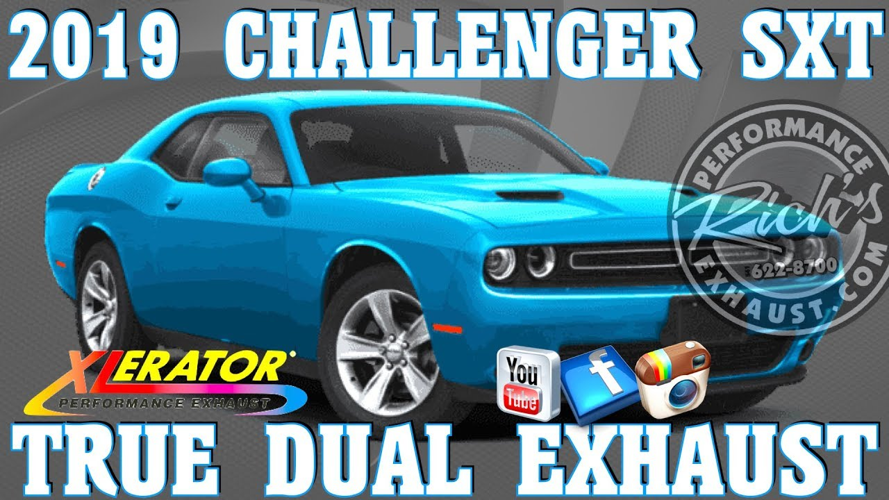 2019 challenger sxt v6 xlerator stainless true dual exhaust by rich s