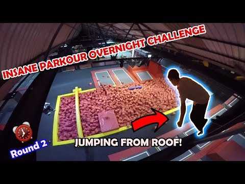 WE SPENT THE NIGHT IN AN INSANE TRAMPOLINE PARK! *Illegally*