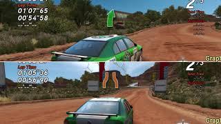 Split Screen Compare  Lowest vs Highest Graphics Detail Setting  Sega Rally Revo PC