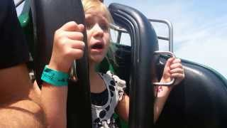Ali rides Loch Ness Monster at Busch Gardens, Will