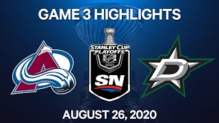 NHL Highlights | 2nd Round, Game 3: Avalanche Vs. Stars – Aug. 26, 2020