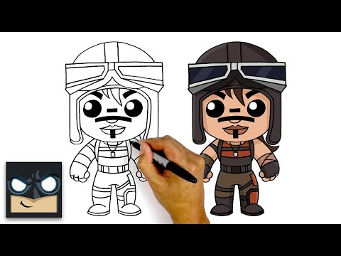 How To Draw Fortnite | RENEGADE RAIDER