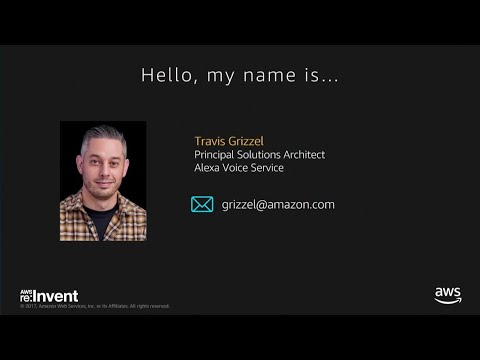 AWS re:Invent 2017: Integrate Alexa voice technology into yo