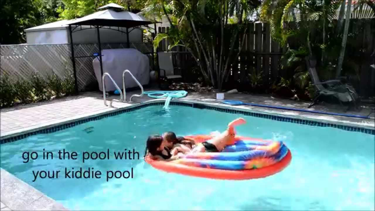 things to do with a kiddie pool youtube