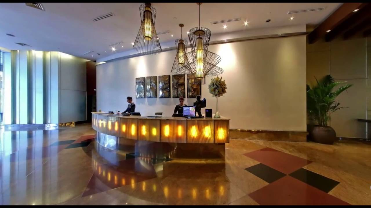 Hotel In Ortigas Center Pasig City Lobby Of Discovery Suites Ortigas Youtube