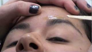 EYEBROW WAX; Wax stuck to the eyelash; MUST SEE;  watch to learn what to do