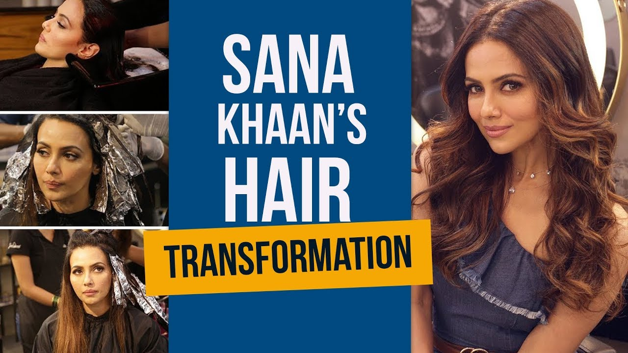 Sana Khaan's Amazing Hair Color Transformation | How To Get Your Hair Colored | Fashion | Pinkv