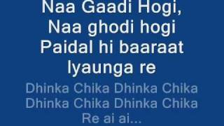 DHINKA CHIKA LYRICS ON SCREEN ♥ READY 2011 HD HQ