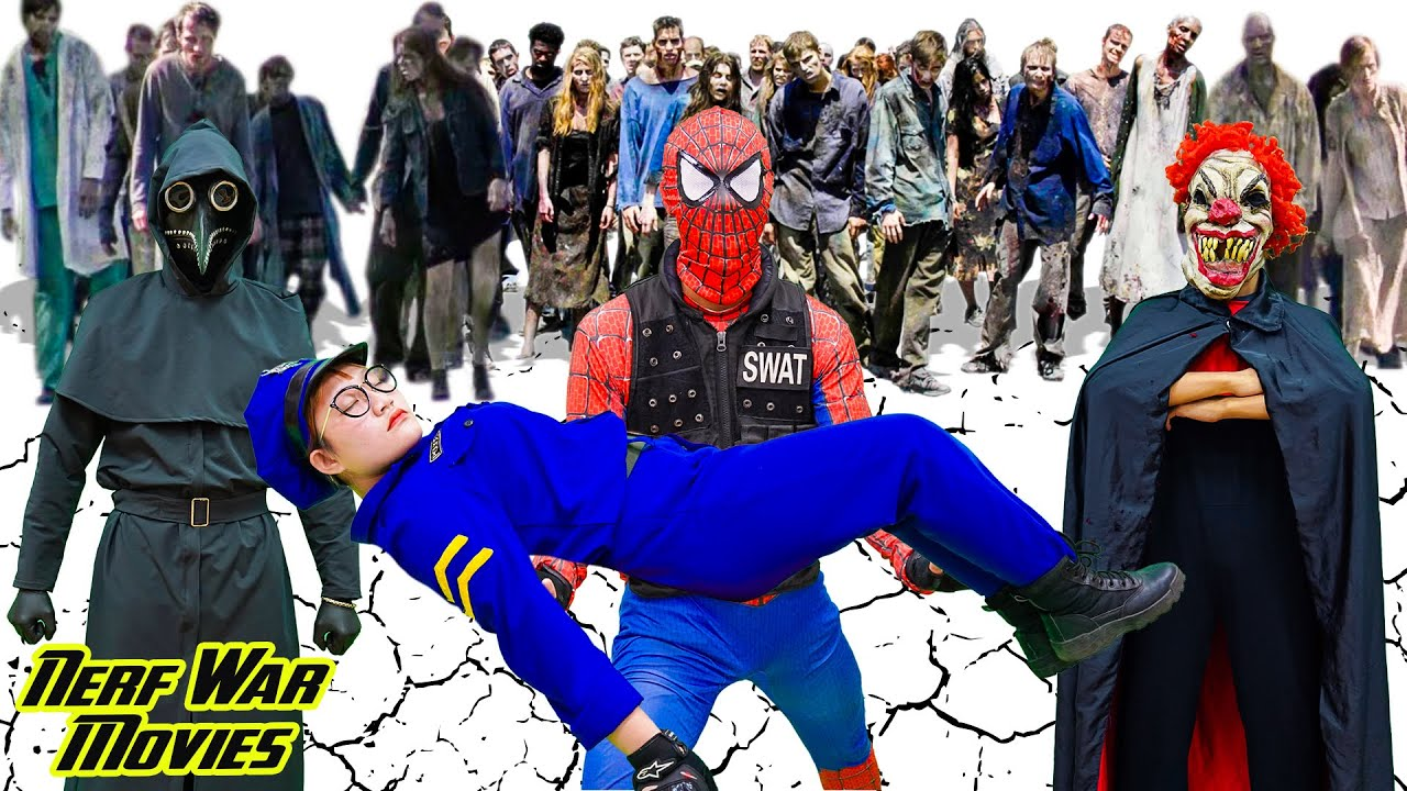 Nerf War Movies: Spiderman X Warriors Nerf Guns Fight Criminal Group In Danger In Mysterious World