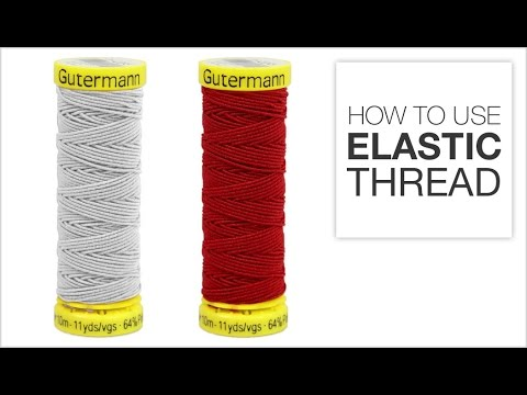 How To Use Elastic Thread YouTube Simple How To Use Elastic Thread In Sewing Machine