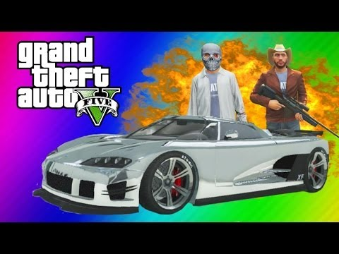 Thumbnail: GTA 5 Online Funny Moments Gameplay - Chrome Car Chase, Jumps, Bus Trick, Dump Truck (Multiplayer)
