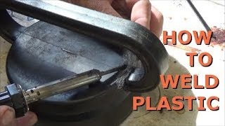 how to weld plastic