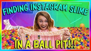 FINDING INSTAGRAM SLIMES IN A BALL PIT | We Are The Davises
