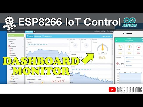 ESP8266 Remote Monitoring and Control With MQTT Using Arduino and Cayenne (Mac OSX and Windows)