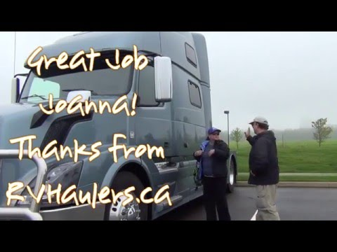 Joanna Drives Her RVHauler STORM for the...