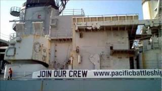 USS Iowa docks in Richmond, CA