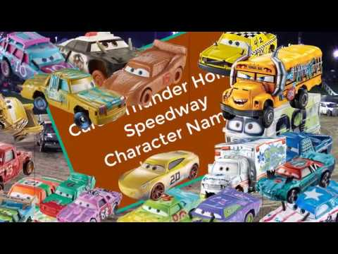 Cars 3 Crazy 8 Thunder Hollow Character Names Crazy Eight Racers