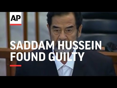 Saddam Hussein Found Guilty And Sentenced To Death By Hanging (A)