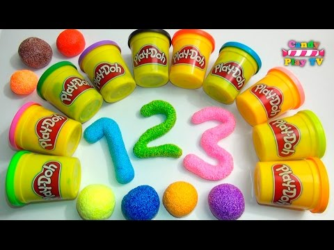 Learn To Count with PLAY-DOH Numbers | 1 to 20 | Squishy Glitter Foam | Learn To Count for Children thumbnail