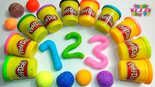 Learn To Count With Play Doh Numbers | 1 To 20 | Squishy Glitter Foam | Learn To Count For Children