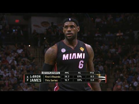 LeBron James Full Highlights 2013 Finals G4 at Spurs - 33 Pts, 11 Rebs, 4 Assists