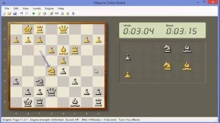Playing Blitz Chess versus Toga II - A Strong but Free Chess Computer Program on Win8-PC (no sound)