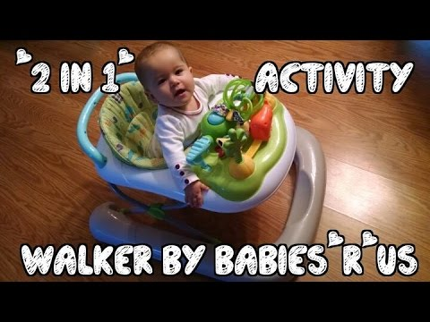 2 in 1 activity walker by babies 39 r 39 us unboxing and assembly youtube. Black Bedroom Furniture Sets. Home Design Ideas